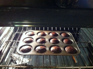 Nutella Lava Brownies in the Making
